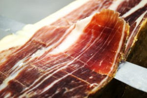 typical Jamon Iberico ham from Spain